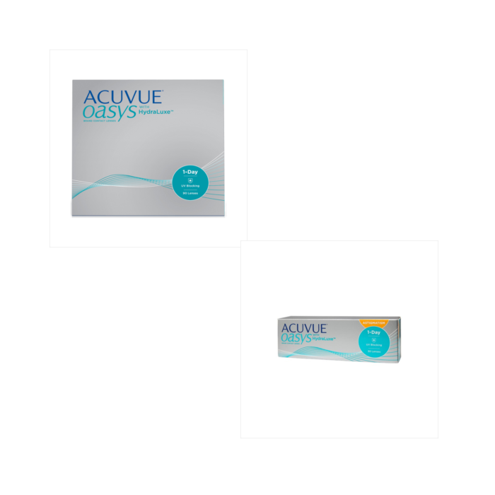 Acuvue Oasys 1 Day 90 Pack + Acuvue Oasys 1 Day for Astigmatism 30 Pack Combination